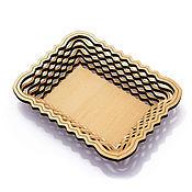 Посуда handmade. Livemaster - original item Plate of cedar rectangular. dish wooden. Handmade.