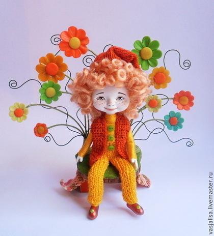 Человечки ручной работы. Ярмарка Мастеров - ручная работа Сувенирная кукла Веселый гномик. Handmade.