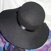 Аксессуары ручной работы. Ярмарка Мастеров - ручная работа Шляпа дамская черная. Handmade.