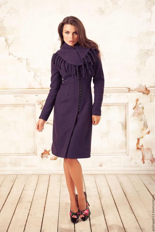 """Верхняя одежда ручной работы. Ярмарка Мастеров - ручная работа. Купить Пальто """"Bahroma"""". Handmade. Фиолетовый, купить, теплое пальто"""