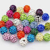 Материалы для творчества handmade. Livemaster - original item Beads with crystals. Handmade.