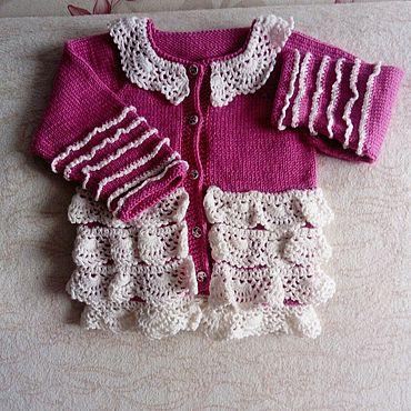 Одежда ручной работы. Ярмарка Мастеров - ручная работа Жакет для девочек.. Handmade.