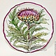 The painted porcelain.Plate ' Botanical prints. Thistle'. Plates. ArtFlera (artflera). Online shopping on My Livemaster.  Фото №2