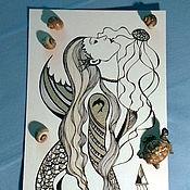 Картины и панно handmade. Livemaster - original item Sea mermaid. Handmade.