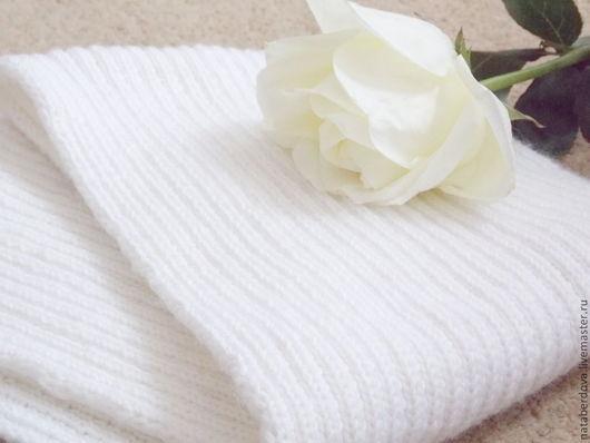 """Шарфы и шарфики ручной работы. Ярмарка Мастеров - ручная работа. Купить Шарф-снуд """"Белоснежный"""". Handmade. Белый, шарф-снуд"""