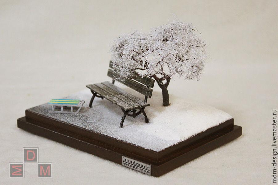 Миниатюра ручной работы «Зима» проект «Времена года»
