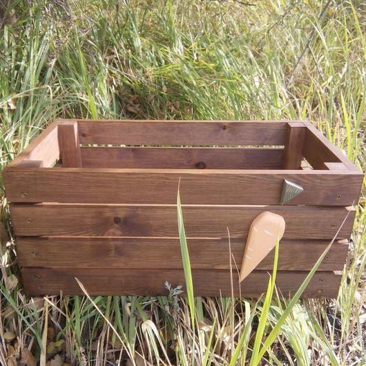 Экстерьер и дача ручной работы. Ярмарка Мастеров - ручная работа. Купить Деревянный ящик. Handmade. Ящик из дерева, Деревянный ящик
