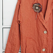 Одежда handmade. Livemaster - original item Linen coat in the style boho. Handmade.
