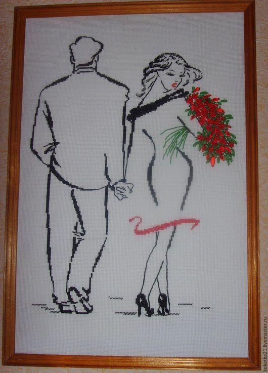 Люди, ручной работы. Ярмарка Мастеров - ручная работа. Купить Романс о влюбленных. Handmade. Ярко-красный, любовь, подарок на свадьбу