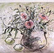 """Картины и панно ручной работы. Ярмарка Мастеров - ручная работа """"Тишина"""" рельефная картина. Handmade."""