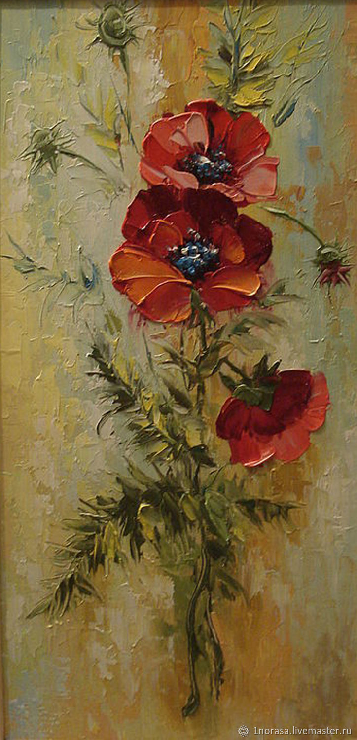 Poppies Painting Shop Online On Livemaster With Shipping
