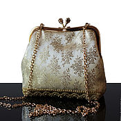 Сумки и аксессуары handmade. Livemaster - original item Evening bag, gold, theatrical handbag, purse with clasp. Handmade.