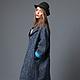 Пальто оверсайз из шерстяной ткани букле под шанель итальянских производителей. Пальто демисезонное AMODAY.