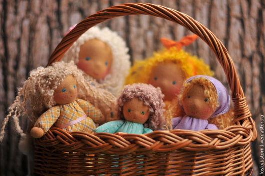 Вальдорфская игрушка ручной работы. Ярмарка Мастеров - ручная работа. Купить Куклы Малышки. Handmade. Кукла, вальдорфские куколки