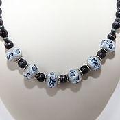 Украшения handmade. Livemaster - original item Beads City winter author`s decoration with handmade beads. Handmade.
