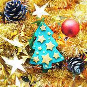 Подарки к праздникам ручной работы. Ярмарка Мастеров - ручная работа Ёлочка со звездами. Handmade.