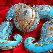 """Подарки к праздникам ручной работы. Ярмарка Мастеров - ручная работа набор елочных украшений """"пейсли"""". Handmade."""