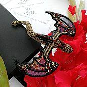 Украшения handmade. Livemaster - original item Fire dragon brooch. Gift girl. Handmade.