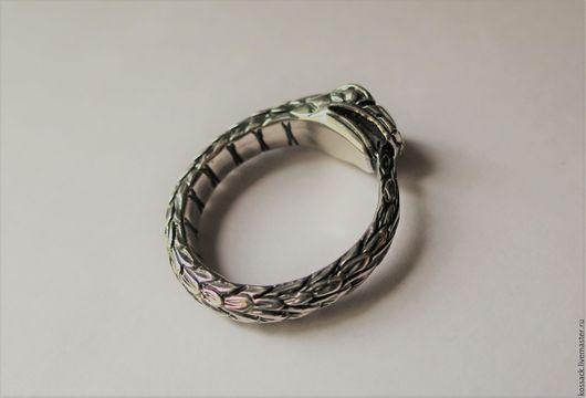 Кольца ручной работы. Ярмарка Мастеров - ручная работа. Купить Уроборос перстень мужской крупный. Handmade. Уроборос, обручальное кольцо