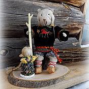 """Русский стиль ручной работы. Ярмарка Мастеров - ручная работа """"Маша и медведь"""" кукла-сувенир. Handmade."""