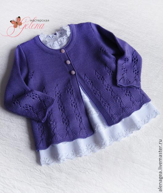 """Одежда для девочек, ручной работы. Ярмарка Мастеров - ручная работа. Купить Кофта для девочки """"Viola -2"""". Handmade. Фиолетовый"""