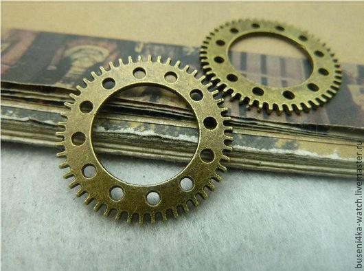 Для украшений ручной работы. Ярмарка Мастеров - ручная работа. Купить Коннектор Шестеренка №9, античная бронза (1шт). Handmade.