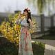 Платья ручной работы. Длинное шелковое платье Утро в саду. Сны о незабудке (snyonezabudke). Ярмарка Мастеров. Летнее платье