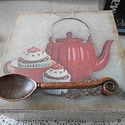"""Для дома и интерьера ручной работы. Ярмарка Мастеров - ручная работа Чайная коробка """"TEAS"""". Handmade."""