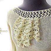 """Одежда ручной работы. Ярмарка Мастеров - ручная работа """"Lady Di"""" шелковая блуза - кофточка - блузон. Handmade."""