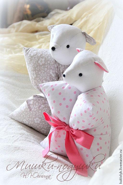 Детская ручной работы. Ярмарка Мастеров - ручная работа. Купить Мишка-подушка.. Handmade. Подушка, подушка в детскую, игрушка-подушка
