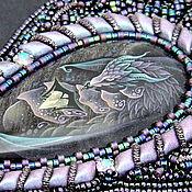 Украшения handmade. Livemaster - original item Beaded pendant with dragon painting. Handmade.