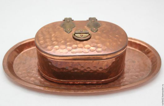 Винтажная посуда. Ярмарка Мастеров - ручная работа. Купить Шкатулка банка ваза сундук поднос медь латунь Ан 4. Handmade.