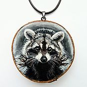 Украшения handmade. Livemaster - original item Pendant: Pendant Raccoon. Handmade.