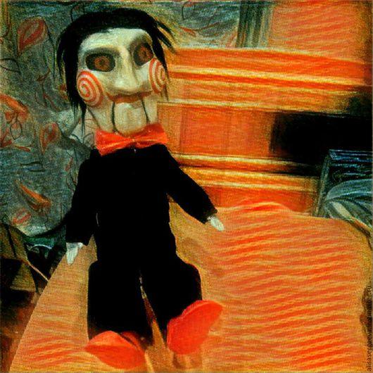 Человечки ручной работы. Ярмарка Мастеров - ручная работа. Купить Кукла Билли Пила saw. Handmade. Билли, кукла в подарок