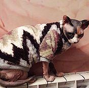 """Одежда для питомцев ручной работы. Ярмарка Мастеров - ручная работа Одежда для кошек """"Стильная шубка с рукавами"""". Handmade."""