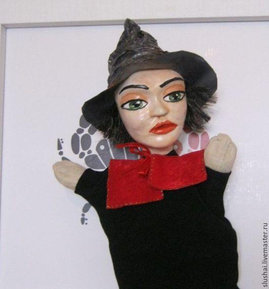 """Кукольный театр ручной работы. Ярмарка Мастеров - ручная работа. Купить """"Ведьма"""". Перчаточная игрушка. Handmade. Папье-маше, волшебница"""