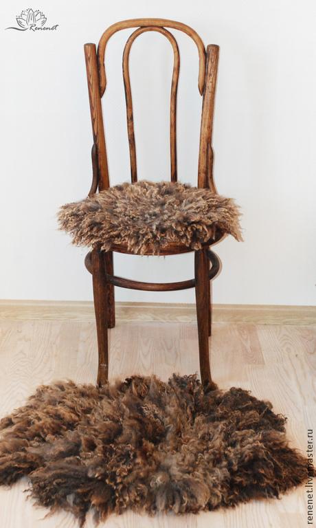 Текстиль, ковры ручной работы. Ярмарка Мастеров - ручная работа. Купить Эко-мех.  Коврик-сидушка в машину/на стул.. Handmade.