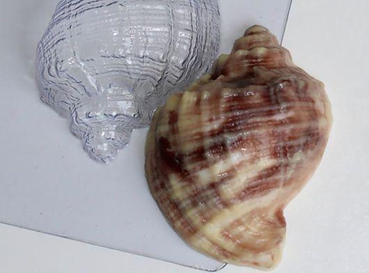 `Ракушка (рапан)` форма для мыла пластиковая