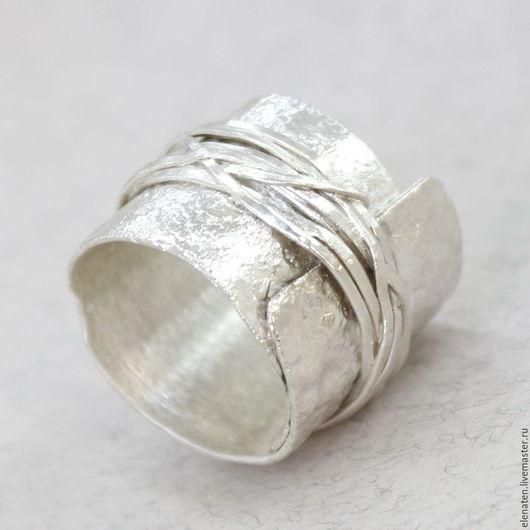 Кольца ручной работы. Ярмарка Мастеров - ручная работа. Купить Широкое кольцо серебро, мужское кольцо , кольцо унисекс. Handmade.