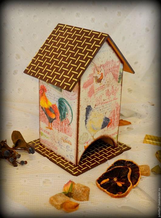 """Кухня ручной работы. Ярмарка Мастеров - ручная работа. Купить Чайный домик """"Кантри"""". Handmade. Чайный домик, чайная шкатулка"""