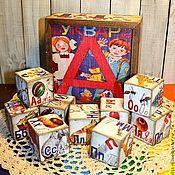 """Куклы и игрушки ручной работы. Ярмарка Мастеров - ручная работа Кубики в коробке """"Азбука"""". Handmade."""