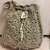 Сумка-торба ручной работы. Ярмарка Мастеров - ручная работа Сумка -торба вязаная из джута. Handmade.