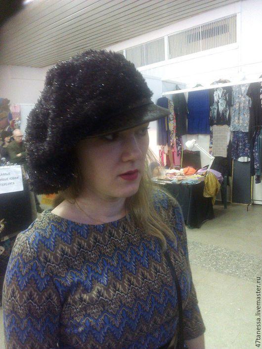 """Кепки ручной работы. Ярмарка Мастеров - ручная работа. Купить Авторская кепка"""" Фламандская """". Handmade. Черный, кепка, бархат"""