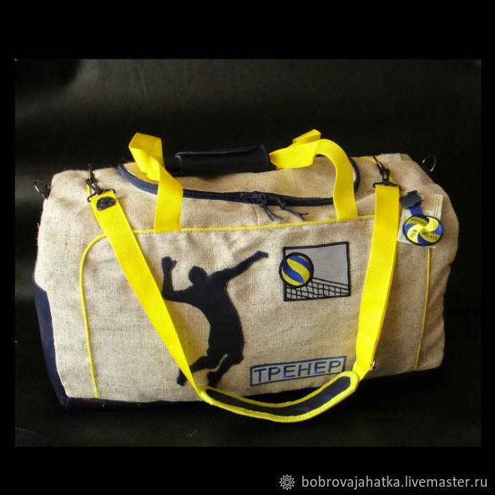 eb48465cdc3a Спортивные сумки ручной работы. Ярмарка Мастеров - ручная работа. Купить  Мужская сумка спортивная Большая ...
