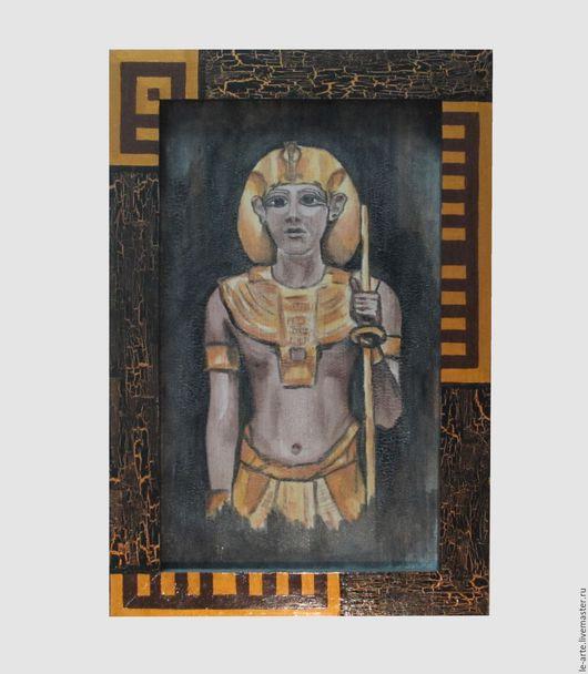 """Этно ручной работы. Ярмарка Мастеров - ручная работа. Купить Картина (PAINTING) """"Фараон"""". Handmade. Комбинированный, акриловые краски, подарок"""