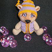 Куклы и игрушки ручной работы. Ярмарка Мастеров - ручная работа Фиалковый Мишка. Handmade.