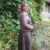 Одежда ручной работы. Ярмарка Мастеров - ручная работа юбка и жакет валяные. Handmade.