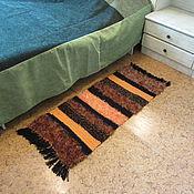 Для дома и интерьера handmade. Livemaster - original item red knitted mat tiger