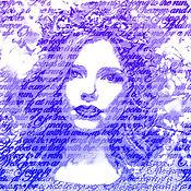 Подарки ручной работы. Ярмарка Мастеров - ручная работа Портрет на холсте из слов.. Handmade.
