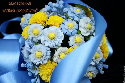 Свадебные цветы ручной работы. Ярмарка Мастеров - ручная работа. Купить Букет Свадебный - Яркий день. Handmade. Желтый